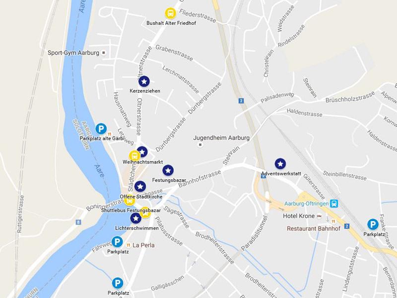 aarburg leuchtet auf google maps